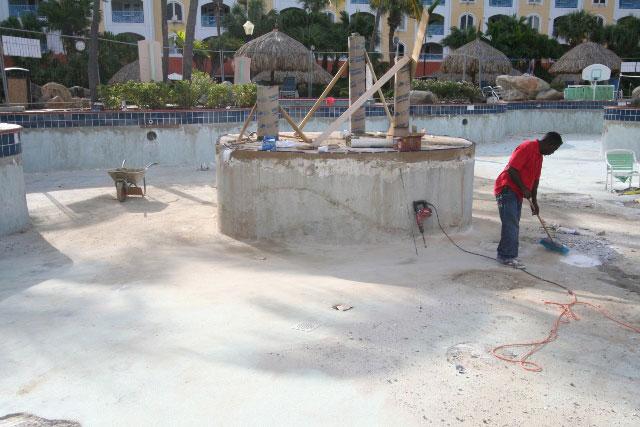 Pool repairs - October 12, 2011