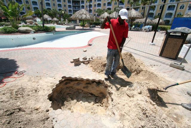 Pool repairs - October 7, 2011