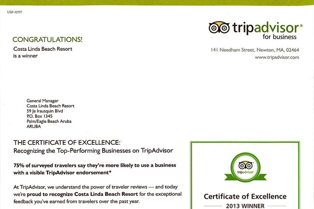 Costa Linda Beach Resort: Certified Excellence In Hospitality