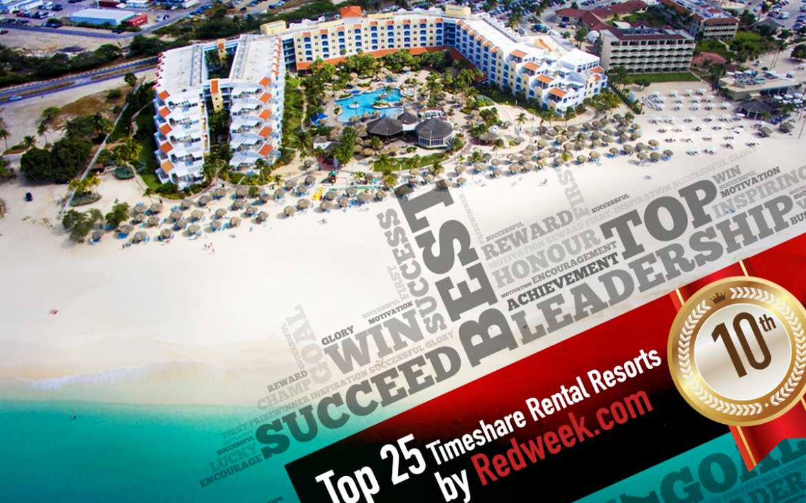 We made the RedWeek Top 25 Timeshare Rental Resort for 2016