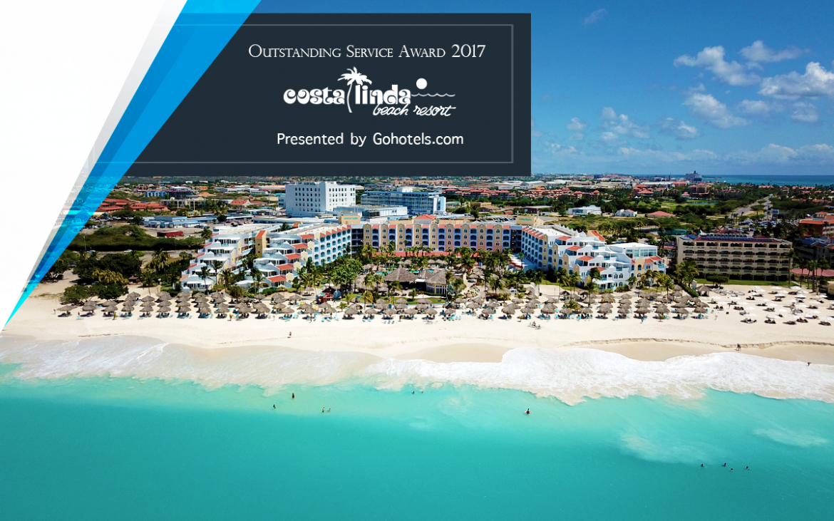 Costa Linda Beach Resort has received an Outstanding Service Award from Gohotels.com