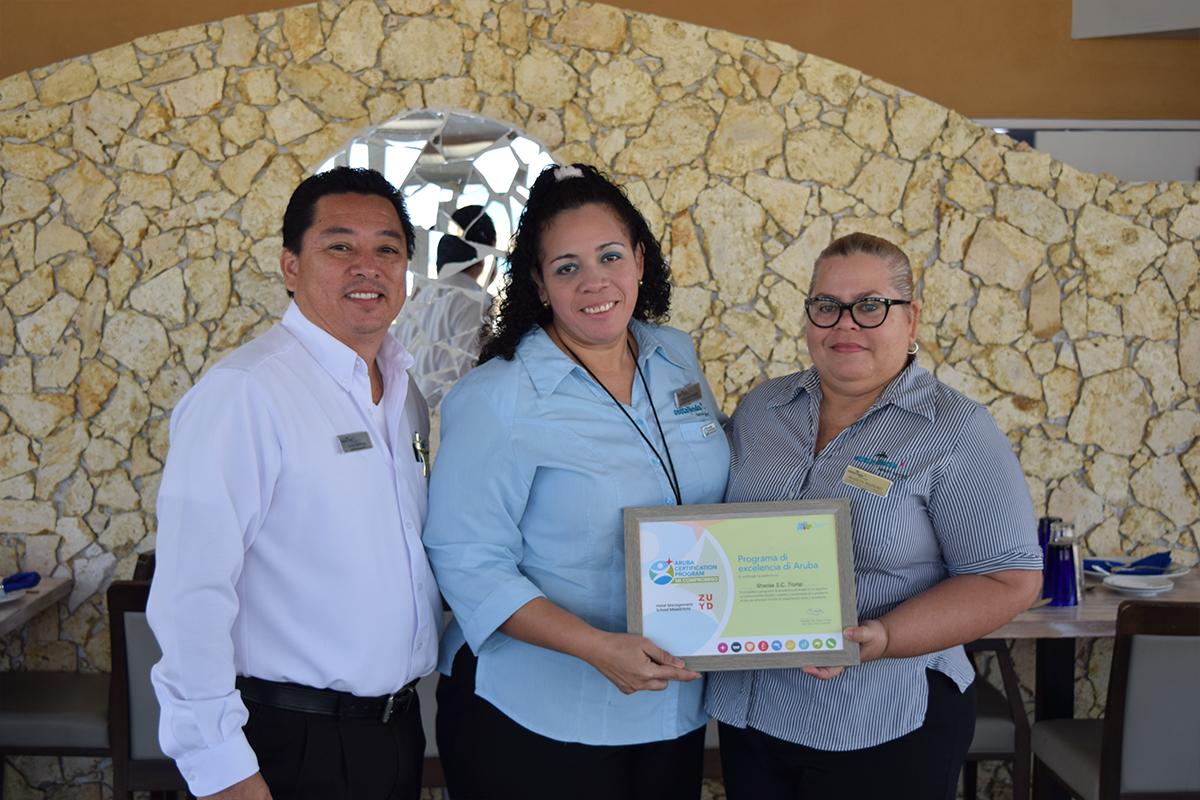 costa linda beach resort completed the aruba certification