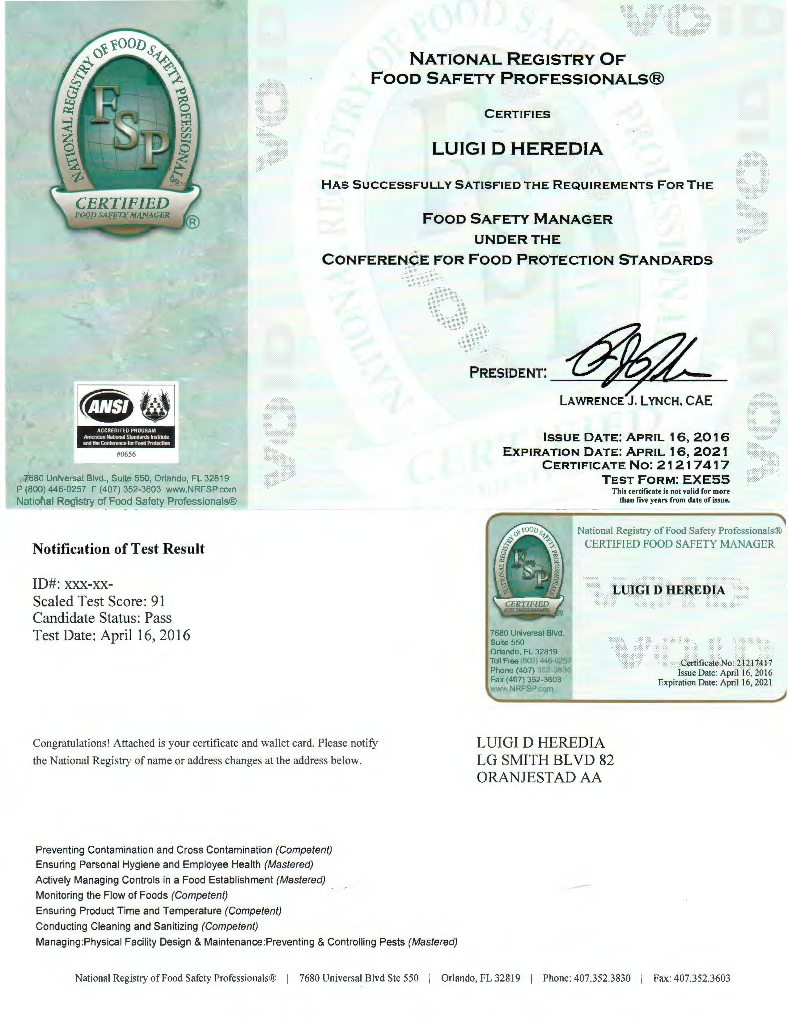 safety certification professional certificate